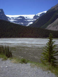 A picture of a glacier taken in Alberta, Canada during one of our travels.