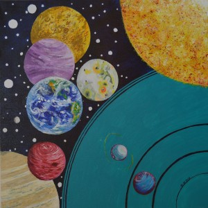 """The Planets"" - One of Kevin's recent oil paintings... No more of these ever again."